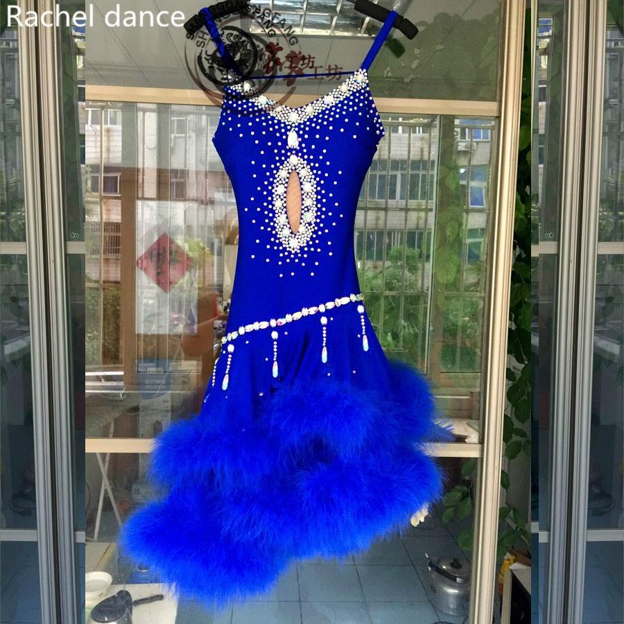online store beb0a f1a4d Go shopping for best price 2017 Fringe Latin Dance Dress Girl V-Collar  Back-Opening Sleeveless Samba Ballroom Tango Dance Clothing Tassel Latin  Dance Dress.