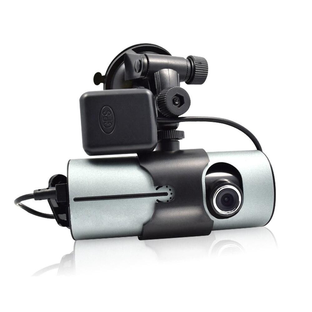 DVR Dash Camera 2.7'' Vehicle Car Drive Video Recorder Cam AVI G-Sensor GPS Dual Lens Wide Angle Dashcam X3000 R300 Auto DVRs цена