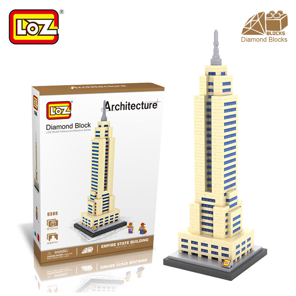 Mr.Froger LOZ Empire State Building Diamond Block World Famous Architecture Toy Bricks New York USA Cube Building Blocks House loz mini blocks world famous architecture model block toy john hancock center empire state building model no box ages 14