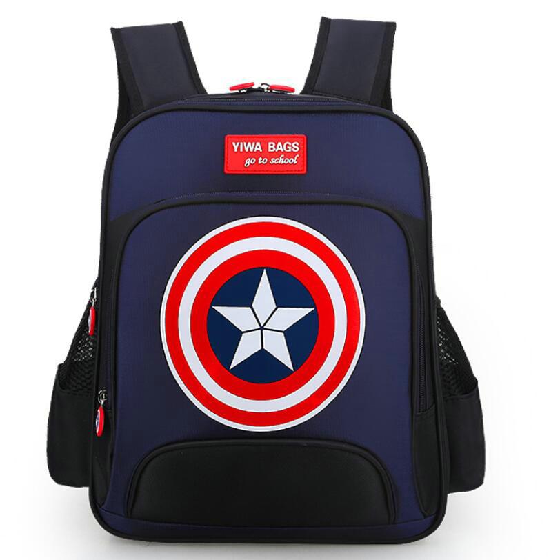 New school backpacks avengers captain america cartoon style schoolbags for kids children shoulder bags mochila infantil new style school bags for boys