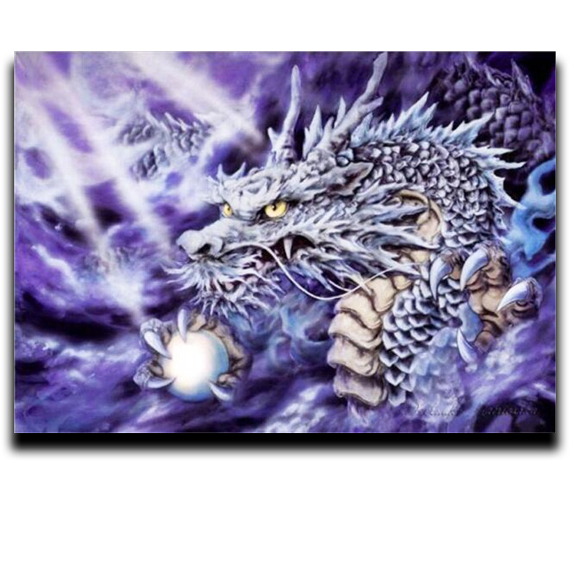 5D diamond paint diy cross stitch Diamond embroidered dragon crystal rhinestone mosaic pictures