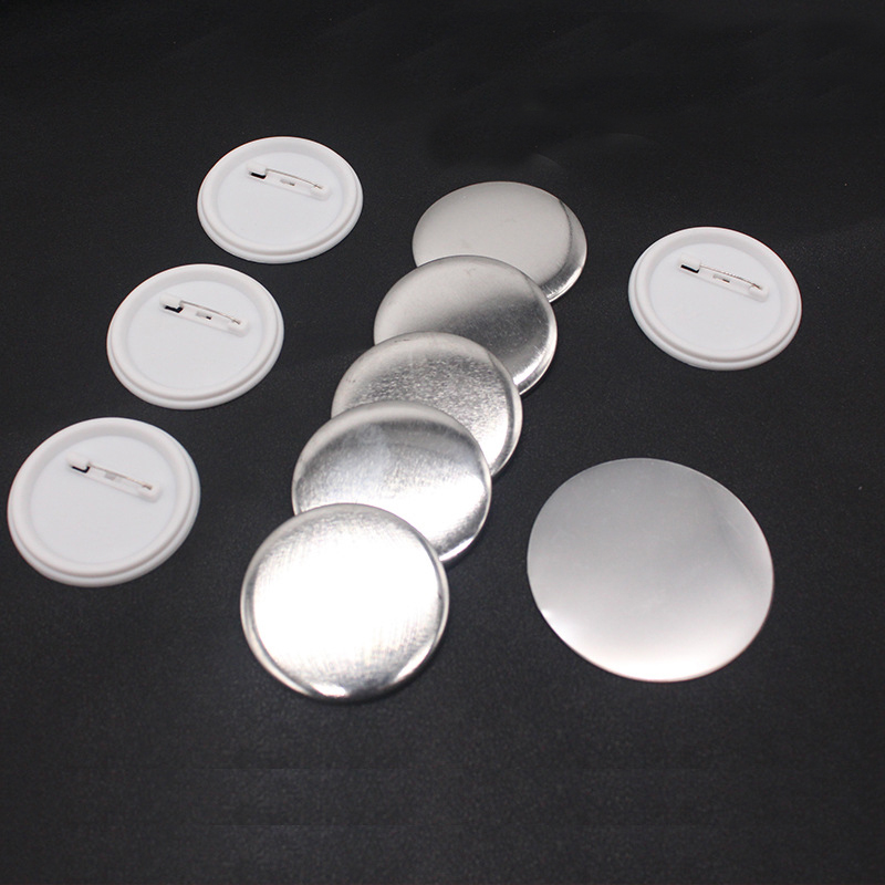 200Sets 1 25mm White Plastic Blank Pin Badge Parts Supplies for DIY Badge Craft Handmade Needwork Material Accessories free shipping 3 75mm 200sets plastic pin badge material blank button parts tin badge components
