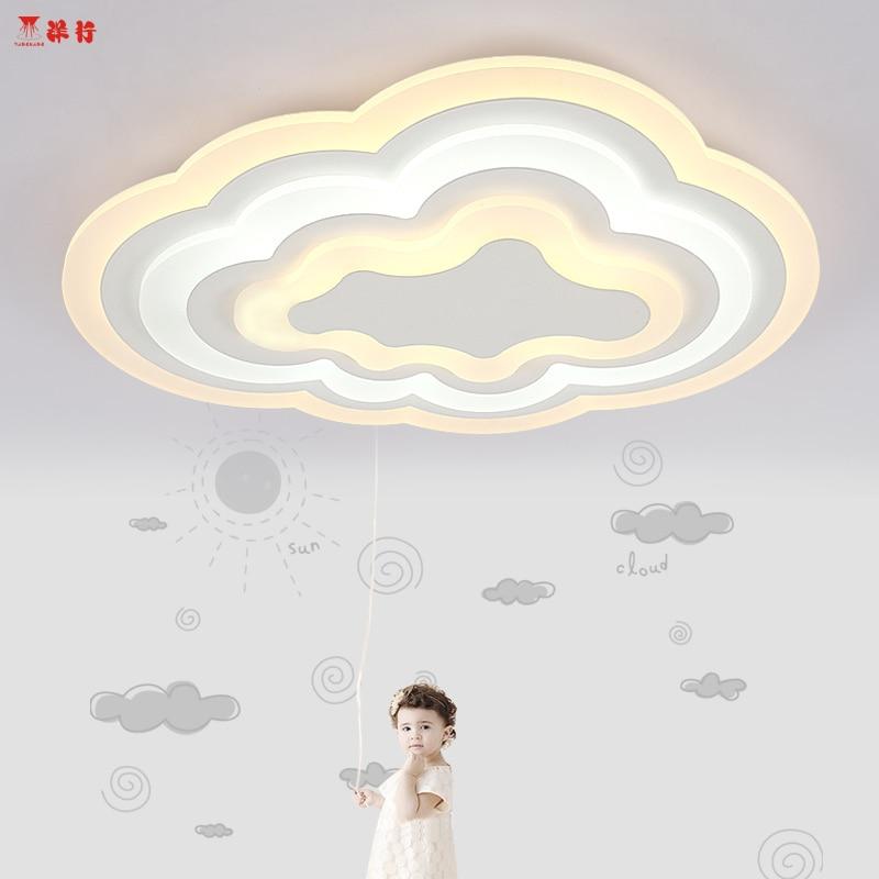 Modem ceiling mount light fixtures Ultra-thin cloud Acrylic Ceiling Lamp 21W/26W/30W for baby's bedroom De Techo Plafond Abajuri ultra thin 7 touch screen lcd wince 6 0 gps navigator w fm internal 4gb america map light blue
