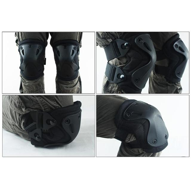 6 Color Airsoft Tactical Adjustable Knee & Elbow Protective Pads Set Protector Free Shipping