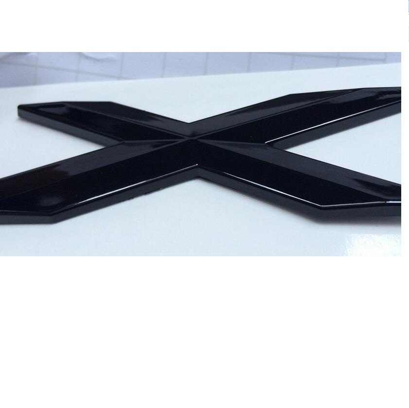 Gloss Black ABS Number Letters Words Car Trunk Badge Emblem Letter Decal Sticker for BMW X1
