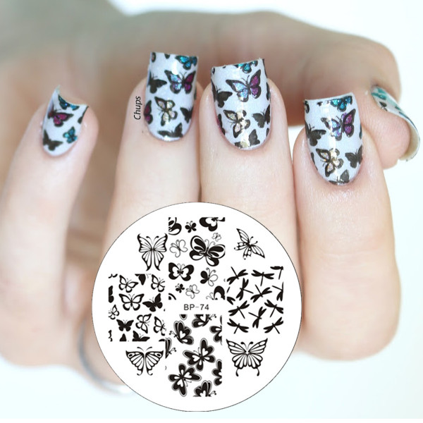BORN PRETTY BP74 Various Pretty Cute Butterfly Nail Art Stamping ...