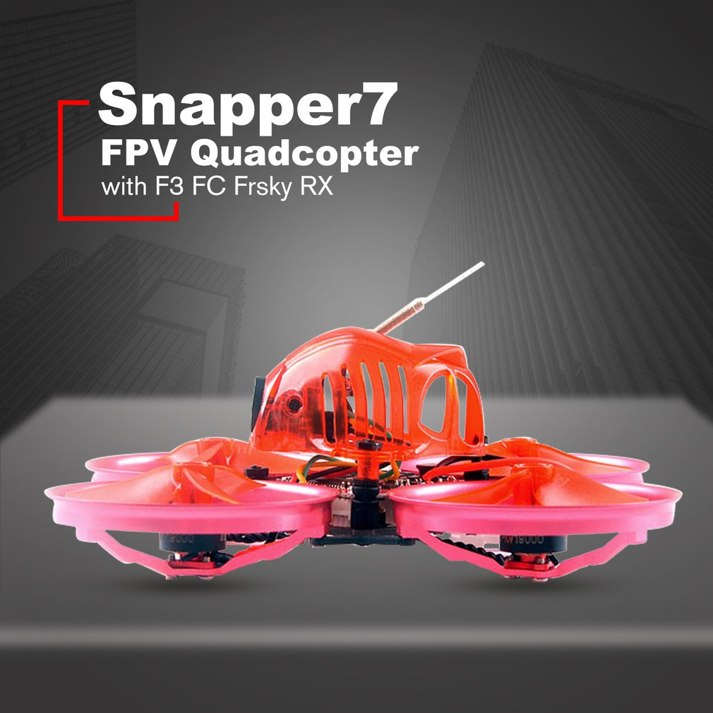Happymodel Snapper7 Brushless WhoopI Avions BNF Micro 75mm FPV Quadcopter 4in1 Crazybee F3 FC Flysky RX 700TVL Caméra VTX