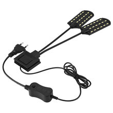 Aquarium Led Lighting 220V Waterproof Clip-on Lamp 15W LED Aquarium Light Plants Grow White Color Lighting(China)