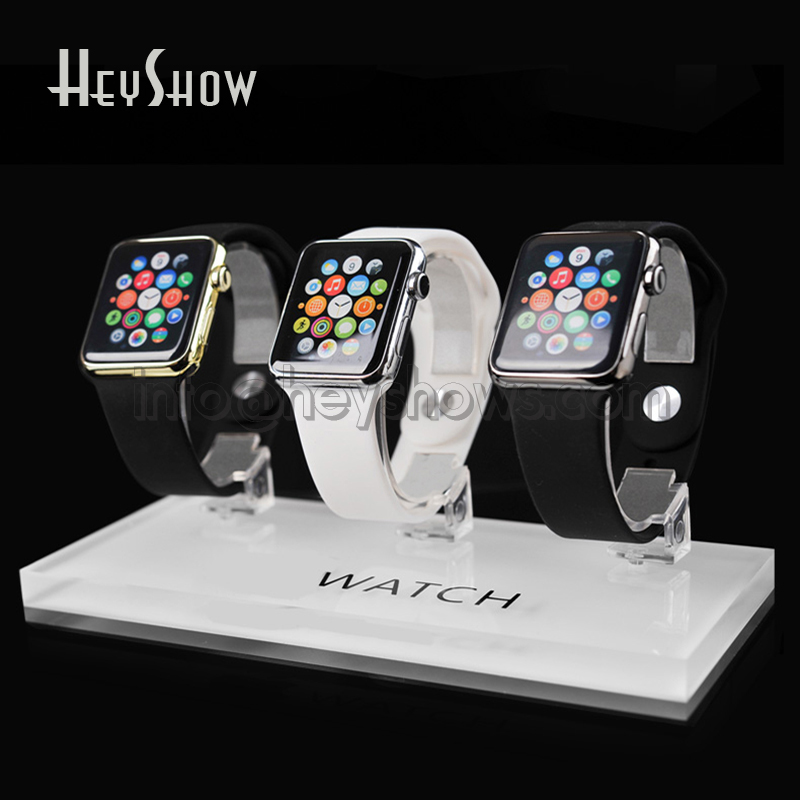 3 In 1 Apple Watch Display Stand Acrylic Smart Watch Holder IWatch Show Base Transparent Universal For Retail Shop