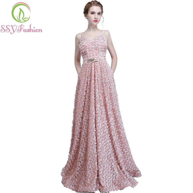 Ssyfashion Long Sleeve Wedding Dresses The Bride Elegant: Aliexpress.com : Buy New Bridesmaid Dresses SSYFashion The