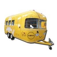 KN-FT05C وجه مبتسم موبايل برغر الغذاء عربة الكمال عربة بيع طعام مقطورة هوت دوج حافلة الغذاء
