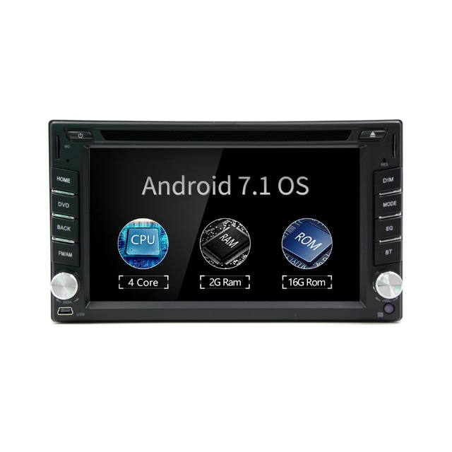 2018  2 Din Android 7.1 2din New Universal Car Radio Double Stereo Gps Navigation In Dash Pc Video 2g Ram(optional)