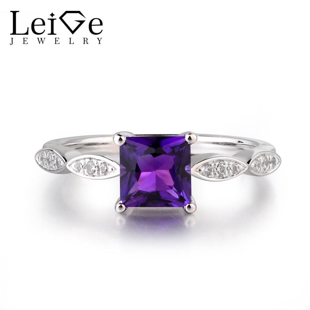 Здесь продается  Leige Jewelry Purple Color Natural Amethyst Square Cut Gemstone Fine Design Mother