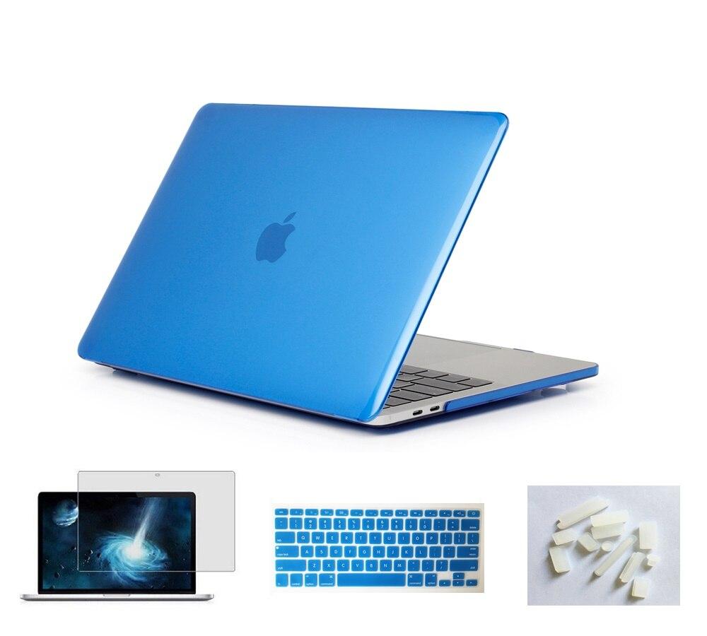 Матовый чехол для ноутбука Apple Macbook Pro retina Air 11 12 13 15 дюймов для Macbook Air13 A1932, Pro 13 15 A1989 A1990 - Цвет: Blue
