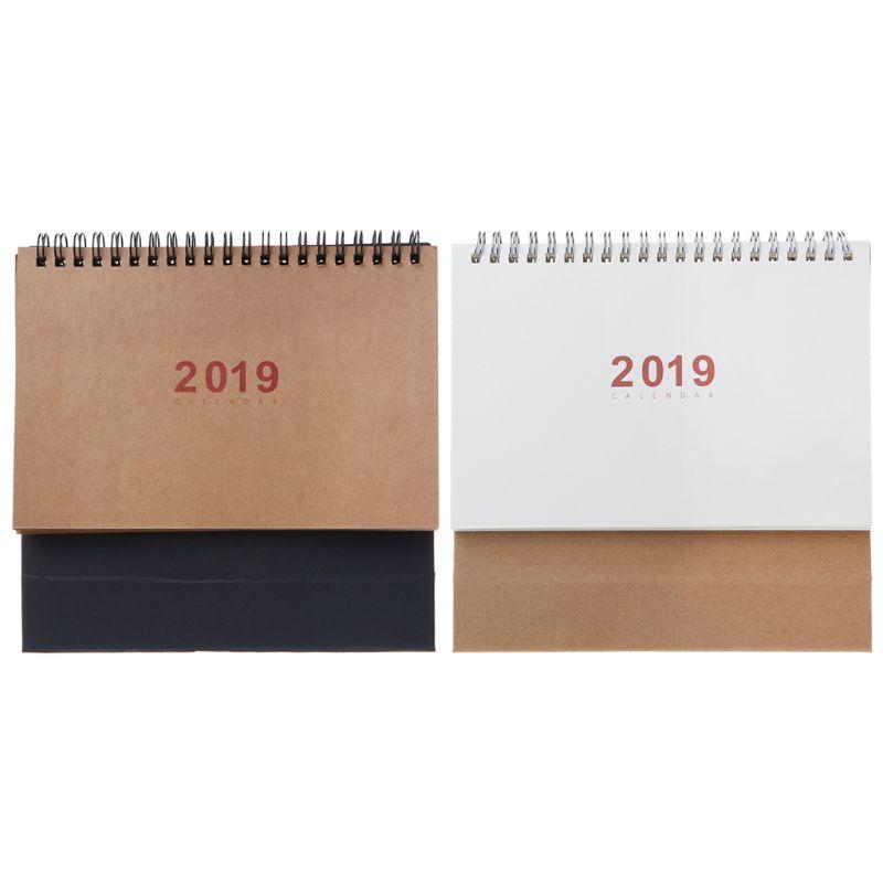 Kalender Hot Folding Haus Blume Deer 2019 Schreibtisch Kalender Memo Planer Lagerung Container