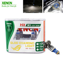 XENCN H1 4300K 12V 55W Gold Diamond Light Car Headlight Bright White Bulb UV Filter Halogen Fog Lamp