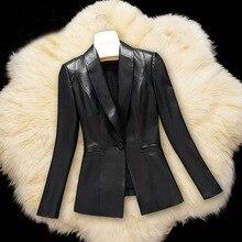 YOLANFAIRY Genuine Leather Jackets Women Real Sheepskin Leather Coats Spring Autumn Short Slim Jackets chaqueta mujer 2018 MF178