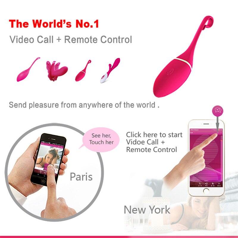 APP À Main Levée 10 Fréquence Sans Fil Vibrant Jouets Bluetooth Vibrateurs de Contrôle Intelligent jouet sexuel vibro-masseur Stimulation Oeufs