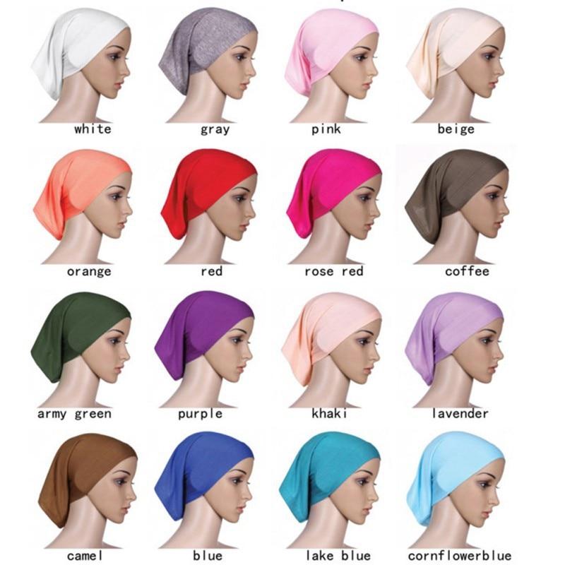 Muslim Abayas For Women Head Scarf Hijabs Muslim Islamic Scarf Scarves Turban Hijab Underscarf Caps Headscarf Hijab