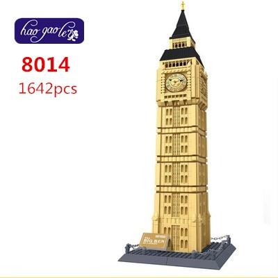 Bezmaksas piegāde WanGe 8014 1642PCS liels Ķieģeļu bloki plastmasas Celtniecības bloku komplekti izglītības bloku rotaļlietas LONDON BIG BEN