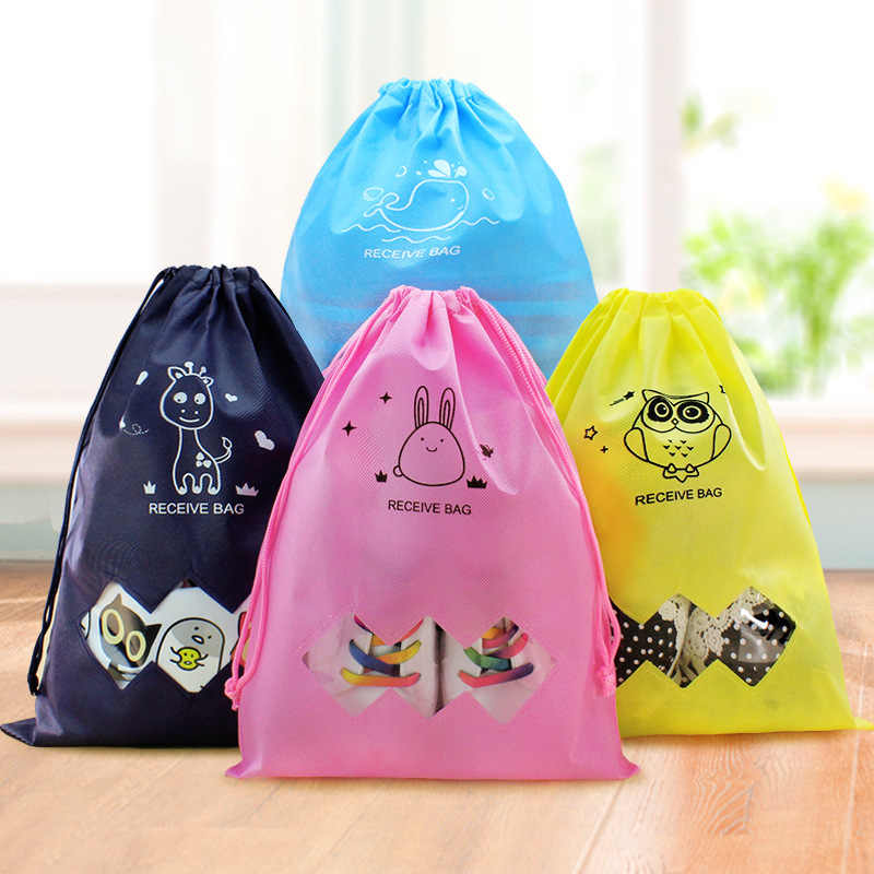 Waterproof Shoes Bag Travel Portable Shoe Storage Bag Organize Tote Drawstring Bag Organizer Non-Woven Organizador