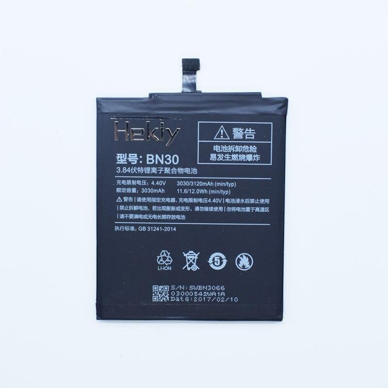 Hekiy Battery Bateria Smart-Phone BN30 Xiaomi Redmi 3120mah Ce For Redrice 4A Hongmi
