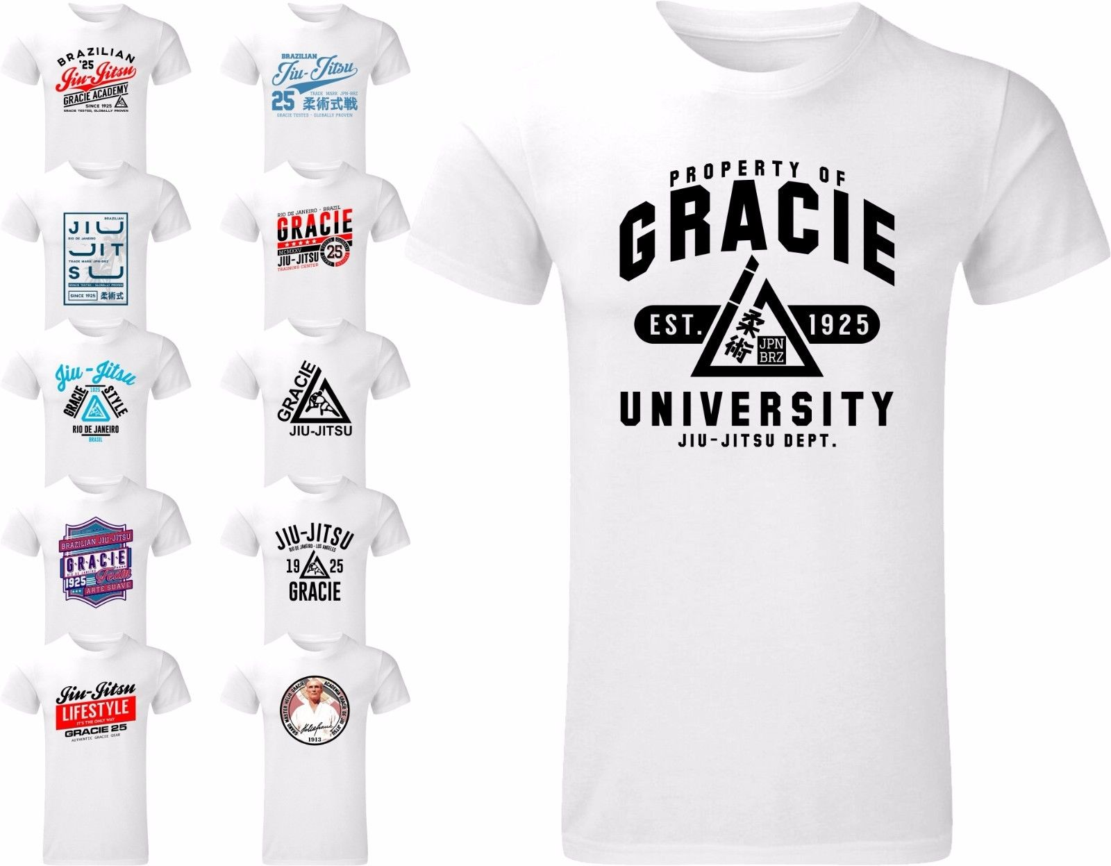 Camiseta Gracie Brasileña Negra Camisetas Homme Bjj Holgada Para Jitsu Artes Jiu Hombre dCroexB