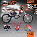 Customized Team Graphics & Backgrounds Decals 3M AMSOIL Custom Stickers Kits For KTM SX SXF EXC 125 250 450 525  Free Shipping