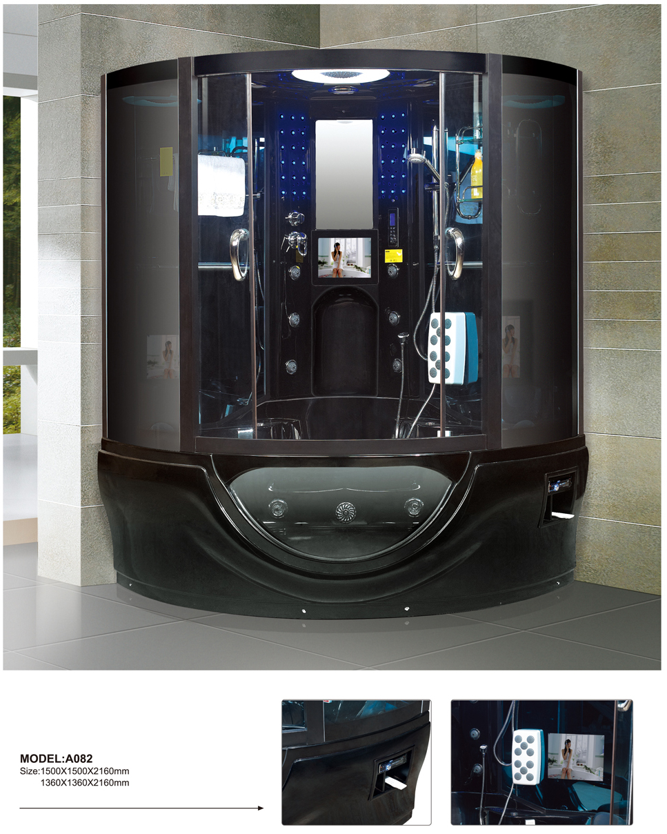 Black enclosed steam shower 026 A082 on Aliexpress.com | Alibaba Group