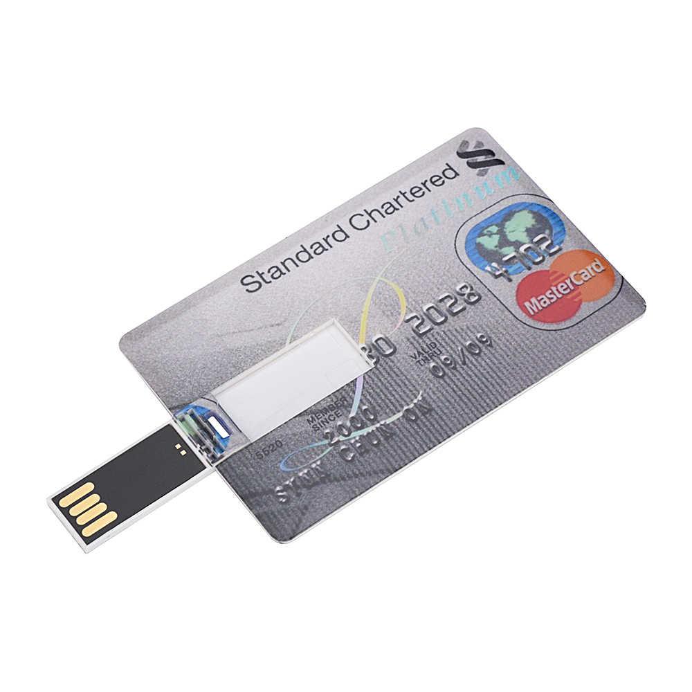 128GB عالية الجودة 4GB 16GB القلم محرك 8GB ذاكرة عصا بطاقة الائتمان محرك فلاش usb 64GB USB عصا 32GB بندريف U القرص