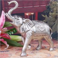 Europe metal animal Elephant living room decoration ornaments metal office desk decoration feng shui decorating accessories A03