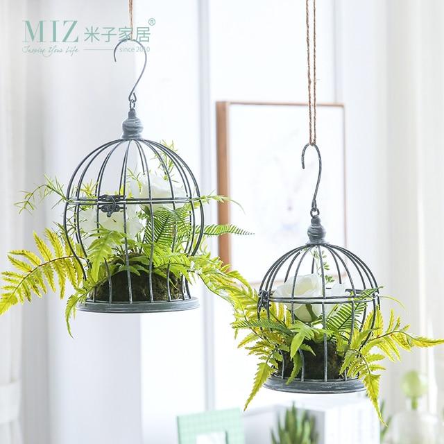 Miz 1 Piece Artificial Plants For Decoration Home Garden Hanging Birdcage Flower Set Decor