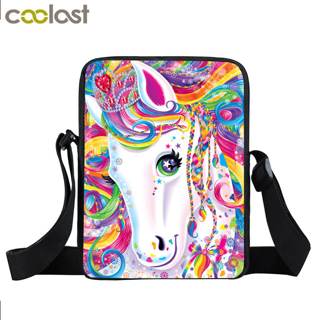 3afea87440 Fantasy Animal Colorful Unicorn Mini Messenger Bag Girls Bookbag Boys  School Bags Kids Book Bag Shoulder Bags Best Gift