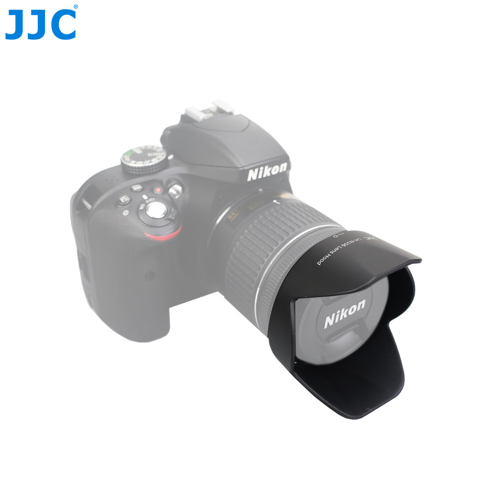 JJC Caméra Lens Hood pour NIKON AF-P DX NIKKOR 18-55mm f/3.5-5.6G/AF-P DX NIKKOR 18-55mm f/3.5-5.6G VR remplace HB-N106