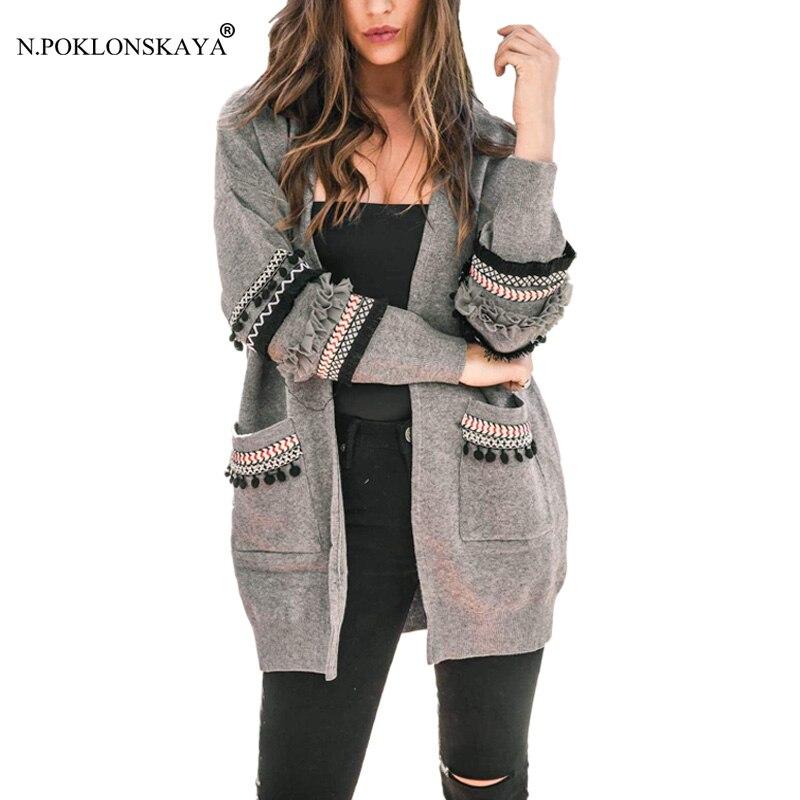Fashion Women Long Cardigan Pockets Loose Casual Oversized Sweater Long Sleeve Jacket Coat Outwear Tops Fall Autumn Knit Jumper