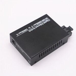 Image 3 - الألياف محول وسائط بصرية جيجابت 10/100/1000Mbps وضع واحد ألياف مزدوجة الطول الموجي 1310nm 20 كجم 1 SC إلى موصل 2 RJ45