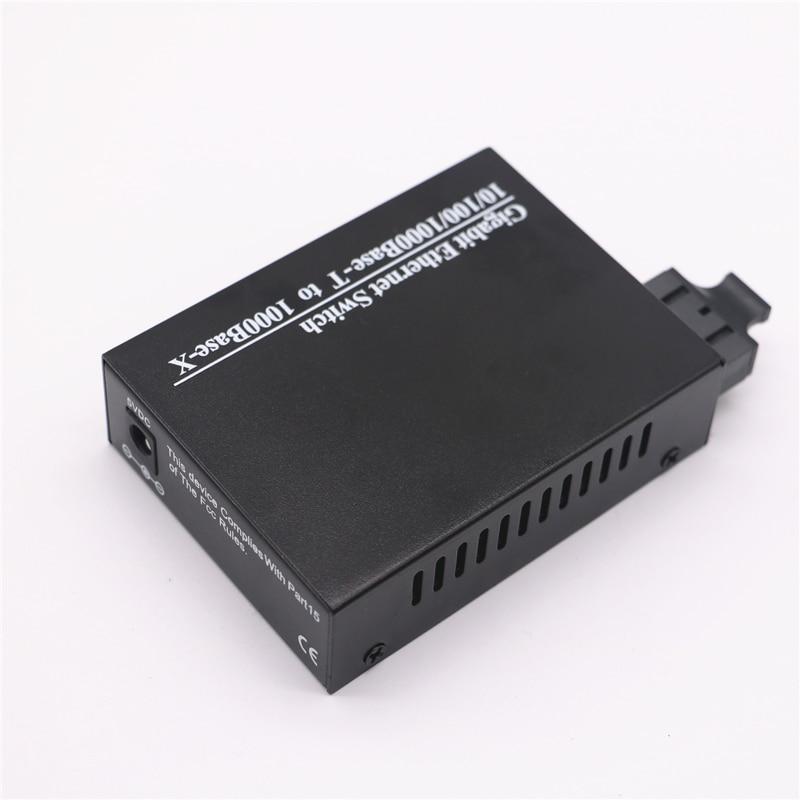 Image 3 - Fiber Optical Media Converter Gigabit 10/100/1000Mbps Single mode Duplex Fiber Wavelength 1310nm 20km 1 SC to 2 RJ45 Connector-in Fiber Optic Equipments from Cellphones & Telecommunications