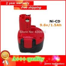 1.5Ah Ni-cd Reemplazo Para Bosch 9.6 V 1500 mah batería de la herramienta eléctrica 2607335707 2607335272, 2607335260, BAT0408 BAT100, BAT119