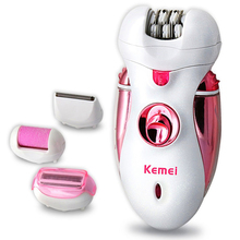 2016hot sale 4 in 1 Rechargeable Multifunctional Women Shaver Electric Epilator Hair Removal Foot Care Tool battery power shaver
