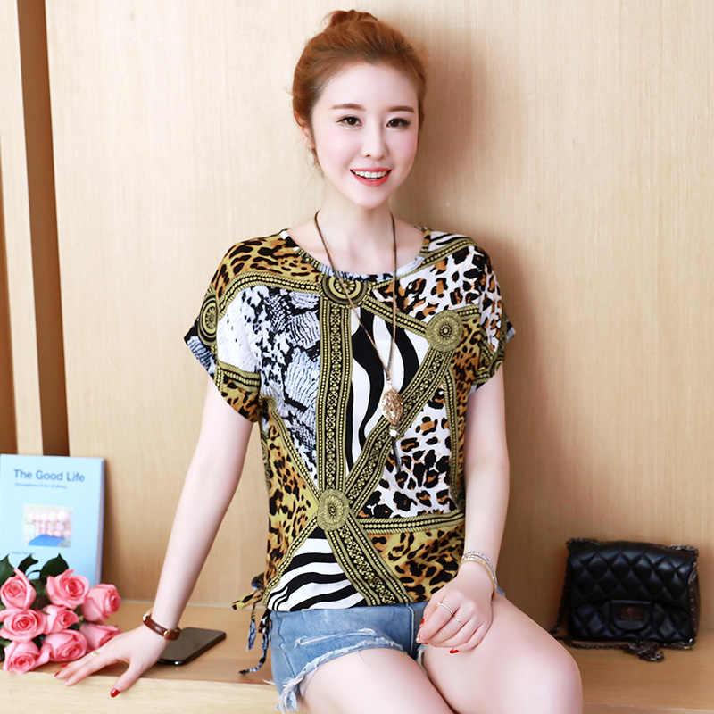新シフォン女性ブラウスレディーストップスとブラウスバットウィングスリーブルース女性シャツプラスサイズ XXXL/4XL 韓国ファッション服