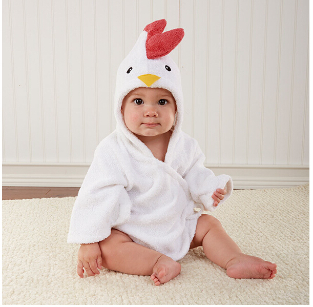 Free Shipping  Hot new children's cartoon cotton bathrobe 5 piece