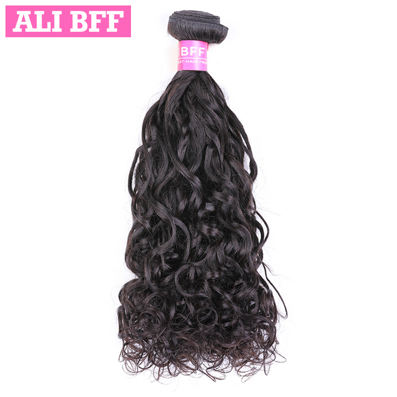 ALI BFF Brazilian Water Wave Bundles 100% Human Hair Extension Remy Hair Weaves 10-26 Inches Can Buy 3/4 Bundles Free Shipping
