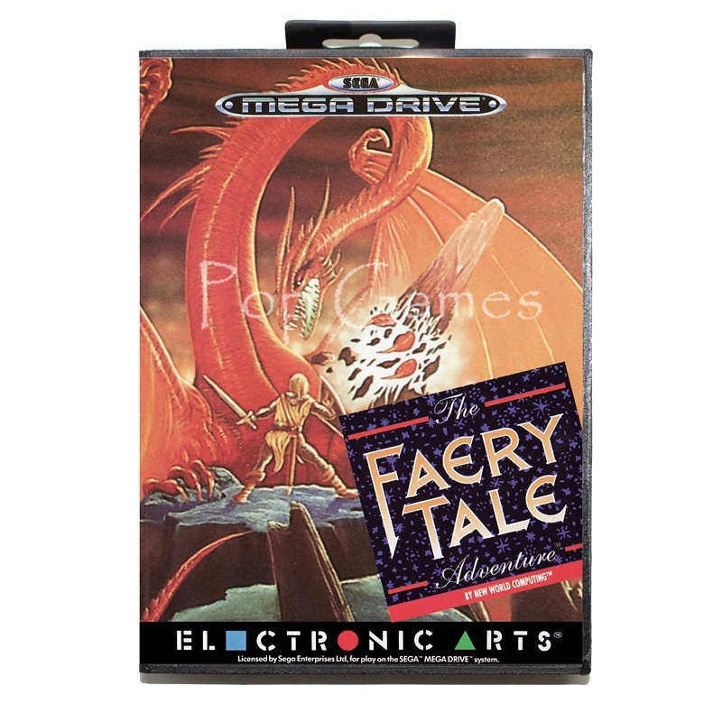 Faery Tale Adventure with Box for 16 bit Sega MD Game Card for Mega Drive for Genesis Video Console