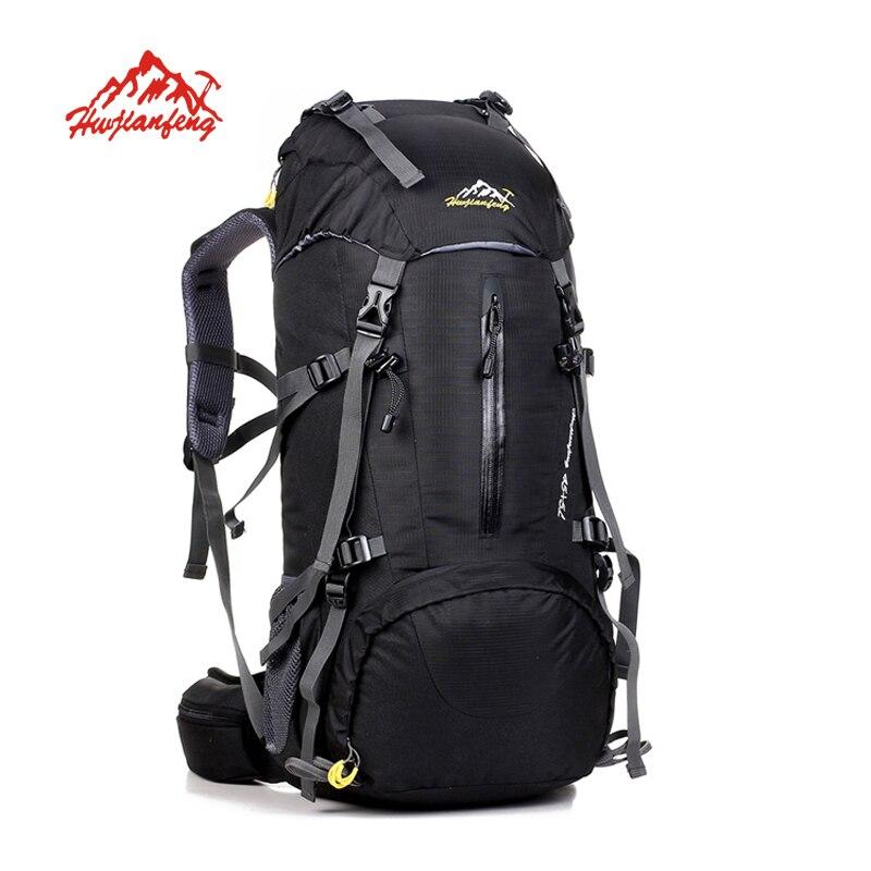 50L sac à dos en plein air sac de Camping étanche alpinisme randonnée sacs à dos Molle sac de Sport escalade sac à dos avec couverture de pluie