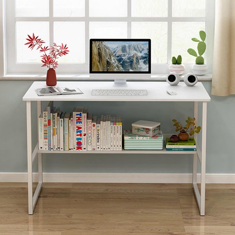 Modern Student Home Notebook Desktop Computer Desk Children Writing Desk Simple Office Desk With Books Storage Board 100*50 CM