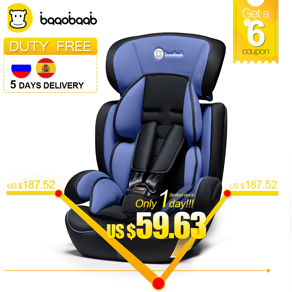 Baaobaab 11.11 Lowest Price Child Car Seat Baby Armchair Group 1/2/3 (9-36 kg) Five-Point Booster Safety Seats 9 Month-12 Years child car safety seat 9 month 12 years old baby protection auto car seat forward facing 9 36 kg five point harness safety seats page 3