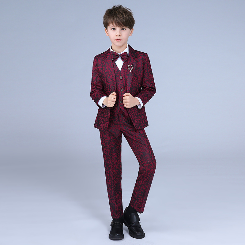 Kids Blazer Baby Boys Suit Jackets 2018 Coat Pants Boy Suits Formal For Wedding Chlidren Clothing Small suit flower girl dress oursson pd1600p bb