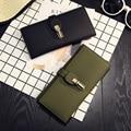 Brand original design leather litchi grain ladies wallet vintage and hasp womens wallets and purses Money Bag