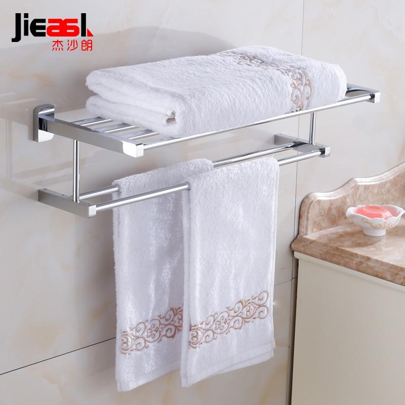 Jieshalang Brass Bath Towel Holders Bathroom Towel Rack Shelf Tacks ...