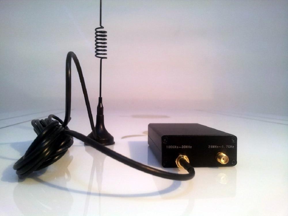 HackRF 100KHz-1.7GHz full-band RTL-SDR receiver air short-wave broadband FM receiver ham radio receiver software defined radio 100khz 1 7ghz full band uv hf rtl sdr usb tuner rtl2832u r820t2